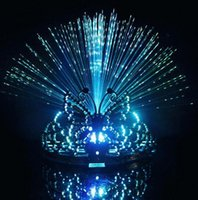 Wholesale LED Crown Dancing Party Headgear Butterfly Crown Headband LED Party Supplies Fiber optic Headband DDD2525