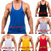 Wholesale New Arrivals Men s Vest Thin Strap Training Tank Tops Bodybuilding Weightlifting Loose Cotton Blends Size M L XL XXL EC96