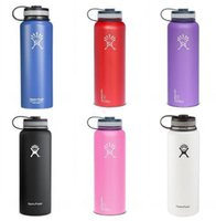 Wholesale Hydro Flask oz oz Vacuum Insulated Stainless Steel Water Bottle Wide Mouth Cap Sports Hydration Gear Cup travel water bottles