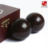 Wholesale Solid black skin health and longevity of the elderly fitness Tai Chi Ball handball mahogany health ball elderly gift cm