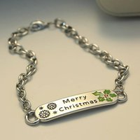 Wholesale 2016 Cheap New Arrival Fashion Alloy Merry Christmas Christmas Tree Chain Bracelet New Bracelet For Gift In Stock