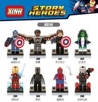 america solider - 8pcs XH0144 Super Heroes Avengers black panther Captain America Woman hulk Hunter Winter solider blocks