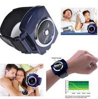 Wholesale 50pcs DHL Free Infrared Intelligent Anti Snore Wristband Watch Cessation Cure Solution Pure Sleeping Night Guard Aid