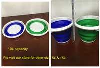 Wholesale Multi function Silicone telescopic portable Round L collapsible foldable bucket outdoor fishing household wash folding bucket