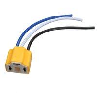 best black light bulb - Best Price H4 Car Truck Ceramic Headlight Extension Connector Plug Light Lamp Bulb Wire Socket Adapter V