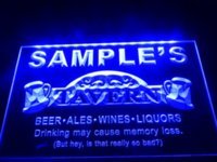 bars deck - DZ025 Name Personalized Custom Tavern Man Cave Bar Beer LED Neon Light Sign box deck