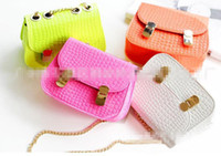 Wholesale Brand New Fashion Kids Style Fashion Princess Casual Nylon Lovely Girls Yellow White Pink Orange Child Handbag Shoulder Bag Hand Bag kids