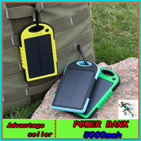 power bank external charger - Hot universal mAh Port Solar Power Bank usb Charger External Backup Battery For iPhone6 iPad Samsung cellphones chargers