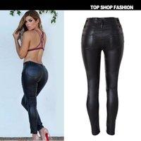 Wholesale Women s new women feet tall waist PU leather pants fashion sexy cultivate one s morality pants PU imitation leather pants