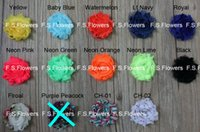 "Wholesale Shabby Flower Wholesale Usa - Free USA ePacket CPAP 1.5"" frayed chiffon flower,shabby chiffon rose lace,hair accessories,30y lot,29 colors for selection"