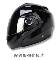 Wholesale HELMO exposing visor helmet motorcycle helmet motorcycle electric car winter helmet dual lens Silver plated visor S XXL
