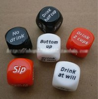 Wholesale 6PCS Novelty Sex Dice Erotic Craps Sexy Funny Flirting Drinking dice