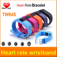 2016 TW64S étanche Wristband Moniteur de fréquence cardiaque Pulse Tracker Smartband OLED Bracelet étanche avec podomètre couleurs mélangées DHL gratuit 10