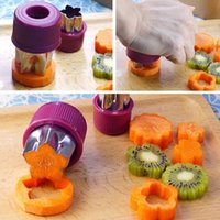 al por mayor vegetales al horno-8 PC / set cortador vegetal de la fruta del arroz de la forma de la flor del acero inoxidable que graba las herramientas de la hornada DIY