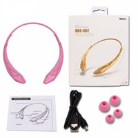 Wholesale HBS wireless Neckband Headphones Sports Stereo Headset CSR For LG Iphone Samsung