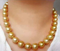 Wholesale Elegant Natural mm south seas gold pearl necklace inch k gold