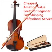 Wholesale Brand New Full Size Natural Acoustic Violin Case Bow Rosin for Beginner Starter Learning Student Kids