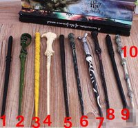 Wholesale 10 Styles Harry Potter Wand Hermione Voldemort Dumbledore Magic Magical Wand Cosplay Staves Wands With Gift Box CCA4964