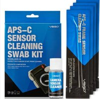 Wholesale VSGO Professional APS C Camera Lens Sensor Cleaning Kit DDR With Liquid Sensor Lens Cleaner Solution Cleaning Swab For DSLR