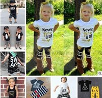 babies bottle - Kids Ins Clothing Sets Baby Fashion Suits Girls Letter T Shirt Pants Infant Casual Outfits Boys Ins Tops Harem Pants Summer Clothing