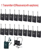 assistive listening - Wireless Assistive Listening Tour Guide System translation systems Receivers Transmitter earphone Translation System by AIBIERTE