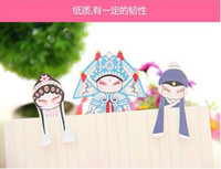 Wholesale Chinese opera bookmark unique traditrional style bookmarker paper bookmark for book reading Chinese classical art bookmark