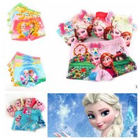 Wholesale Kids frozen girls boxer briefs Underwear Underpants Kids Cotton Briefs Cartoon Princess Underwear for years KKA596
