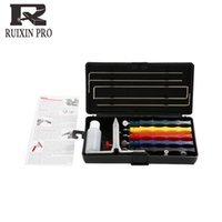 Wholesale with whetstone Ruixin nd steel Apex edge wicked lansky Knife sharpener sharpening system Newest fix angle sharpener