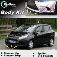 Wholesale Bumper Lip Lips For Ford B Max B Max BMax Front Skirt Deflector Spoiler For Car Tuning The Stig Recommend Body Kit Strip