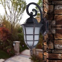 antique wall lantern - American style outdoor wall lamps exterior lantern lamp antique vintage noble wall lights aluminum outdoor light fixture wall lighting