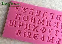 Wholesale New Fondant Cake Russian Alphabet Molds Set Silicone Molds bakery mini muffin decorating tools Cake Decorating Tool Soap Molds