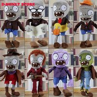 anime statues figures - NEW ARRIVAL CM Plants vs Zombies Soft Plush Toy Doll Game Figure Statue Baby Toy for Children Gifts