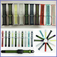 Wholesale NK Hole Loops Strap Replacement Silicone Wrist Bracelet Sport Band Strap For Apple Watch Series and Series Strap mm VS Fitbit Strap