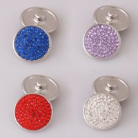 Wholesale Hot Sale mm Snaps Button With Rhinestone For Snaps Jewelry Fit Ginger Snaps Jewelry And Noosa Chunks KB2300