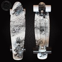 penny skateboard - 2016 Good Quality Hydrographics Transfer Printing Pattern Mini Cruiser Skateboard inchs Long Retro Fish shaped Penny style Board