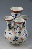 antique porcelain china - Blue youligong GongSi tube bottles of vintage antique old porcelain
