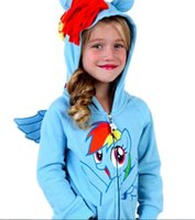 Wholesale Baby Girls Boys Kids My little pony Sweatshirts D Tops Hoodies Coat Sportswear Costume Outfits Set Clothes