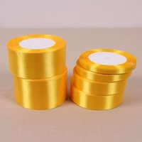 Wholesale 22 Meter Silk Satin Gold Ribbon Wedding Party Home Decoration Gift Wrapping Christmas New Year Bow DIY Material Supplies