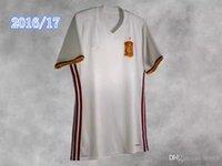 Wholesale 2017 soccer jersey Spain camiseta futbol ESPANA IKER CASILLAS DE GEA INIESTA FABREGAS MORATA DIEGO COSTA SERGIO RAMOS shirt