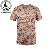 Wholesale NaturalHome Brand Men Breathable Army Tactical T Shirt Military Quick Dry Sport Outdoor Tees Outdoors Hunting T shirt