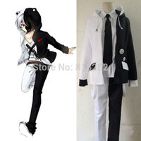 Wholesale Danganronpa Monokuma School Uniform Outfit Cosplay Costumes Coat Shirt Pants