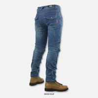 Wholesale Rip Stop Windproof Male Denim Jeans Anti Foul Anti Shrink Zipper Fly Cotton Male Racing Pants