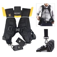 Wholesale Quick Release Dual Shoulder Camera Neck Strap Adjustable Camera Shoulder Neck Sling for Two Canon Nikon Olympus