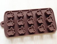 apple chocolate mold - Small Apple chocolate Cake Mold Flexible Silicone Soap Mold For Handmade Soap Candle Candy bakeware baking moulds kitchen tools ice molds