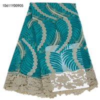 Wholesale Embroidery African Cord Laces Swiss Guipure Lace Fabric For Nigerian Wedding Dresses D611YD09