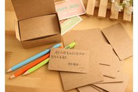 Wholesale 300Pcs Kraft Paper message card Notepad memo pads label bookmark office school supplies