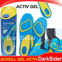 Cheap Scholl Active Gel Insoles Print Logo Foot Care For Men For Shoes Soft Silicone Heel Knees Ankles Insoles VS Scholl Wet & Dry