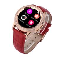 al por mayor últimos relojes niña-2016 mujeres de la manera del diseño del ritmo cardíaco nuevas últimas de la mano mujeres hermosas del reloj mujeres móviles del reloj bluetooth diamante manera smartwatch