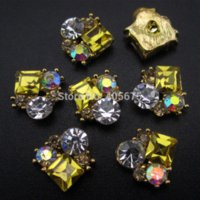 Wholesale 50pcs Shine Crystal square nail stone alloy d nail art rhinestones styling tools decorations for nails YNS25