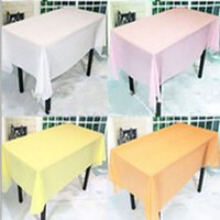 Wholesale Plastic Tablecover Table Cloth Cover Party Wedding Events Tableware decoration tablecloth tablecloths wedding pvc quot X quot H210498